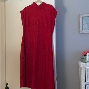 Mossimo red lace dress